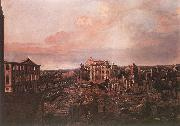 BELLOTTO, Bernardo Dresden, the Ruins of the Pirnaische Vorstadt oil painting picture wholesale